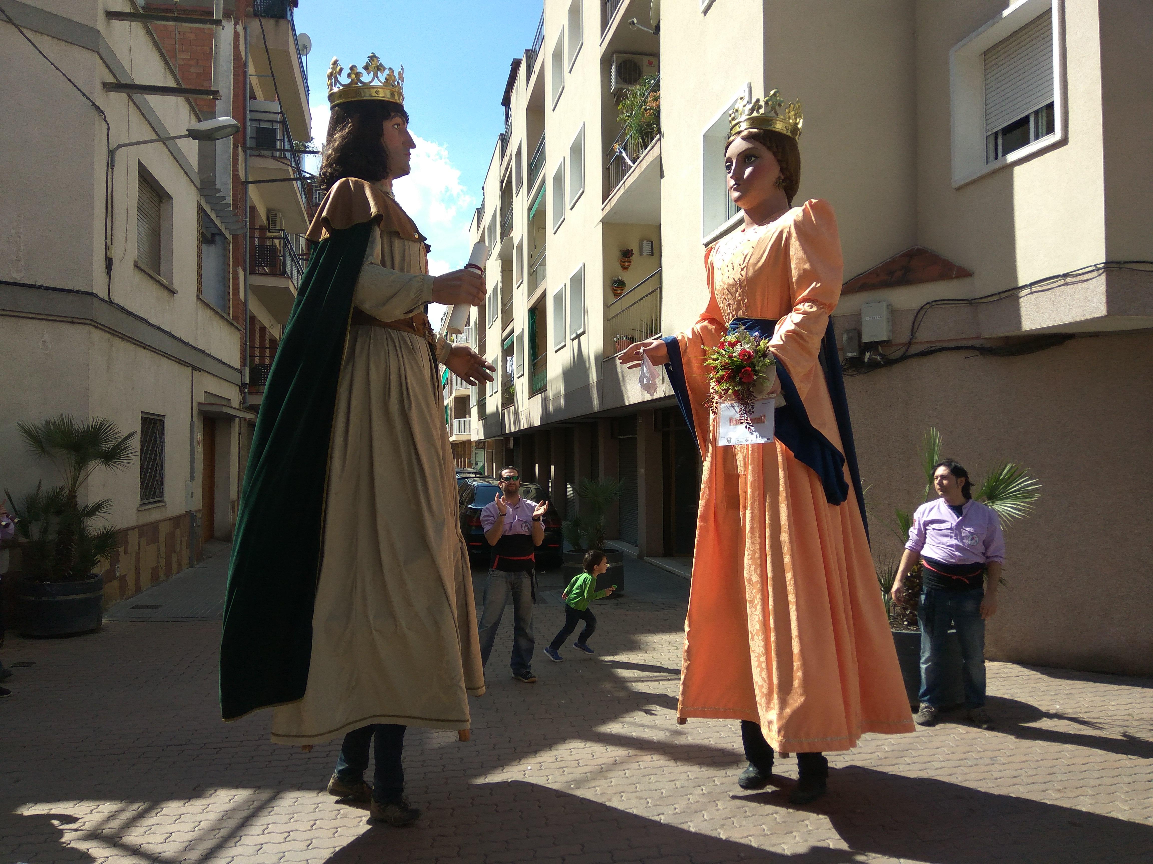 Gegants de Martorell a la 8a Trobada de Gegants de La Llagosta
