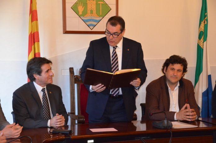 Visita del conseller d'Interior Jordi Jané a Martorell