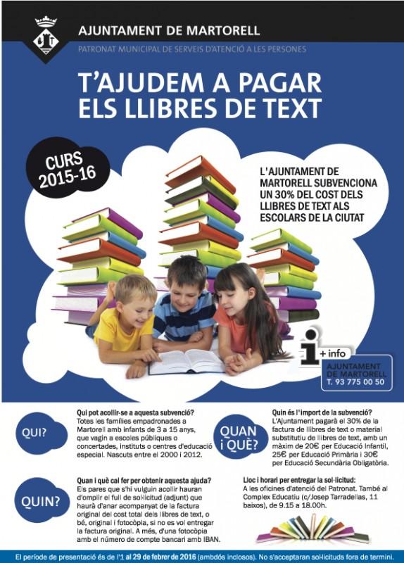 Subvenció llibres de text