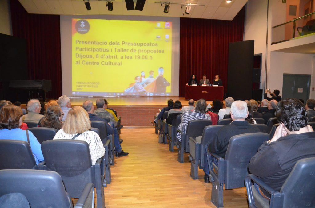 Presentació Pressupostos Participatius