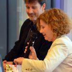 Fira del Llibre. Presentació de Cuina Flexi. Adam Martín i Maria Hinojo