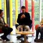 Fira del Llibre. Presentació de Cuina Flexi. Xavier Fonollosa, Adam Martín i Maria Hinojo