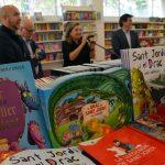 Inauguració de la 39a Fira del Llibre. Francesc Querol, Sergi Corral, Isona Passola i Xavier Fonollosa