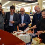 Inauguració de la 39a Fira del Llibre. Míriam Riera, Xavier Fonollosa, Francesc Querol, Sergi Corral i Isona Passola