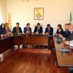 Recepció de l'alcalde Xavier Fonollosa i dels regidors al President Carles Puigdemont