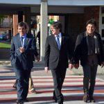 El president Puigdemont en la seva arribada a l'Hospital