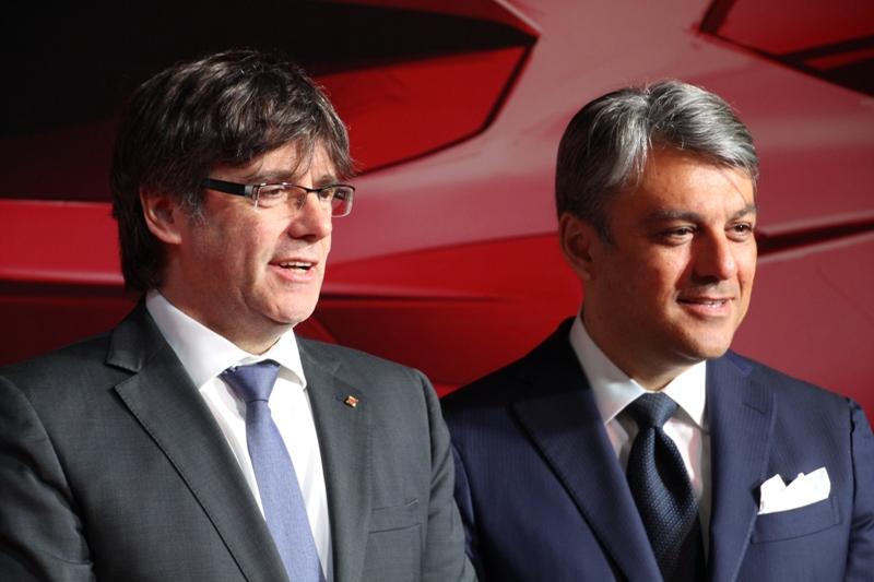 Visita president Puigdemont a SEAT