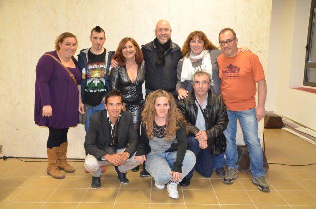 El regidor Sergi Corral amb els membres d'El Foment